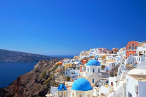 Oia Hotels, Santorini, Cyclades, Greece